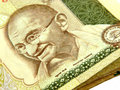 Mahtma Gandhi On Currency Royalty Free Stock Photos