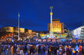 Maidan nezalezhnosti kiev ukraine december independence square in kyiv Royalty Free Stock Image