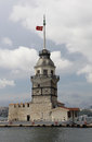 Maiden s tower leander in istanbul turkey Stock Images
