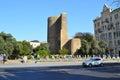 Maiden tower in baku azerbaijan Royalty Free Stock Photos