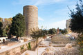 The maiden tower baku azerbaijan known locally as giz galasi located in old city in Royalty Free Stock Images