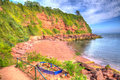 Maidencombe beach and cove Devon in HDR Royalty Free Stock Photo