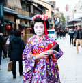 Maiko apprentice geisha the on the streets of gion Stock Photos