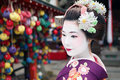 Maiko San in Kyoto spirit Royalty Free Stock Photo