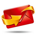 Mail and arrow Royalty Free Stock Photos