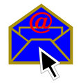Mail and arrow Royalty Free Stock Photography