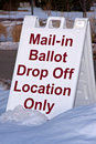 Mail-in Ballot Sign Royalty Free Stock Photography