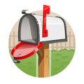 Mail box eps illustration on white background Stock Images
