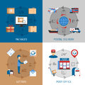 Mail Concept Icons Set Royalty Free Stock Photo