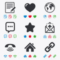 Mail, contact icons. Communication signs Royalty Free Stock Photo