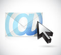 Mail an cursor illustration design over a white background Stock Photos