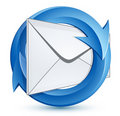 Mail envelope and arrows Royalty Free Stock Photography