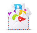 Mail envelope on a white background Royalty Free Stock Images