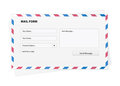 Mail form in an envelope Royalty Free Stock Photo