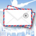 Mail Icon (With Clipping Path) Royalty Free Stock Image
