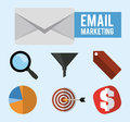 Mail icon design vector illustration eps graphic Royalty Free Stock Image