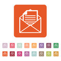 The mail icon. Open Envelope symbol