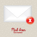 Mail icon over gray background vector illustration Stock Photos