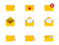 Mail Icon Set 3 Royalty Free Stock Photos