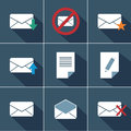 Mail icons this is file of eps format Stock Image