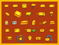 27 mail icons - Hand drawn coloured vector graphics Royalty Free Stock Photo