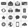 Mail icons set - Simplus series Royalty Free Stock Photos