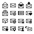 Mail icons set on white vector illustration Stock Photo