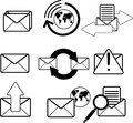 Mail icons web vector eps Royalty Free Stock Photography