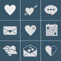 Mail love icons Royalty Free Stock Photo