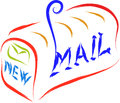 Mail new sketch illustration abstract Stock Images