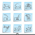 Mail post it icons..series no.16 Stock Image