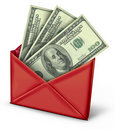 Mail in rebate in red envelope Royalty Free Stock Images