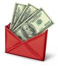 Mail in rebate in red envelope
