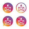 Mail receive icon. Envelope symbol. Get message. Royalty Free Stock Photo
