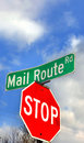 Mail Route Sign Royalty Free Stock Photo