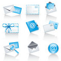 Mail service icons Stock Image