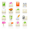 Mail service icons Royalty Free Stock Photo