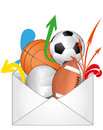 Mail sport Royalty Free Stock Photo