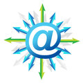 Mail symbol with arrows Royalty Free Stock Photography