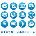 Mail & transportation icons Royalty Free Stock Photo