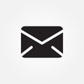Mail vector icon isolated on white background .