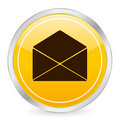 Mail yellow circle icon 2 Royalty Free Stock Photos