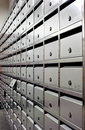 Mailbox array tidy Stock Photography