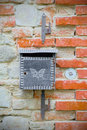 Mailbox crafted with the symbol of a butterfly, the concept of freedom of expression Royalty Free Stock Photo