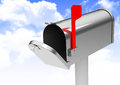 The mailbox d generated picture of a simple Royalty Free Stock Images