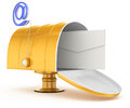 Mailbox with email  symbol Royalty Free Stock Photo