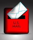 Mailbox icon vector illustration background Royalty Free Stock Photos