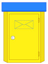 Mailbox illustration of the mail box Stock Images