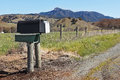 Mailbox in Rural Area Royalty Free Stock Images