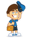 Mailman vector clipart picture of a male cartoon character Stock Photos